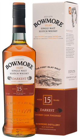 Bowmore Single Malt Scotch 15 Year Old Darkest